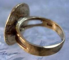 Gold Plated Buddha ring Buddah protection good luck