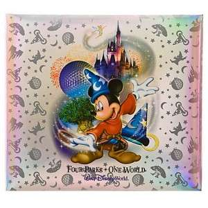 Four Parks One World Walt Disney World Scrapbook Album New