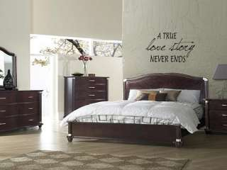 TRUE LOVE STORY Home Bedroom Decor Wall Art Decal 36