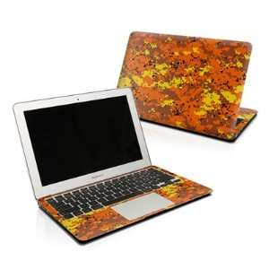 Digital Orange Camo Design Protector Skin Decal Sticker
