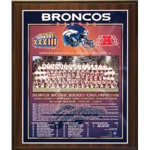 1998 Denver Broncos NFL Football Super Bowl 33 XXXIII