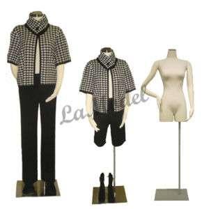 Female Dress Form w/Leg, Mannequin, body form, 2 Units