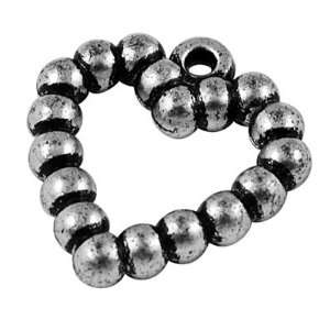 com DIY Jewelry Making 12x Antique Acrylic Pendants, Heart, Antique
