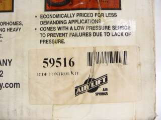 AIR LIFT RIDE 59516 ADJUSTABLE CAR RIDE CONTROL REAR AIR BAG SPRING