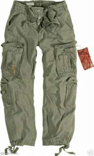 VINTAGE AIRBORNE PARATROOPER OLIVE COMBAT ARMY TROUSERS