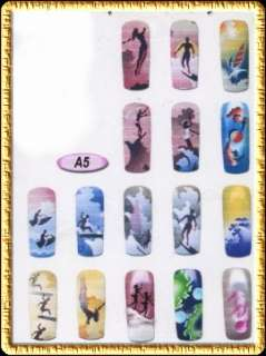 Airbrush STENCIL Designs Nail art Sports Theme #A5