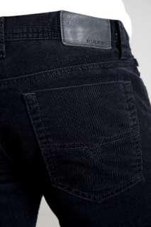 NWT DIESEL VIKER 38U,SLIM STRAIGHT LEG, BLACK CORDUROY ,LOWRISE, W33 X
