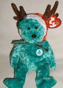 Ty 2002 Holiday Teddy Bear Christmas Day Beanie is In Hand and Ready