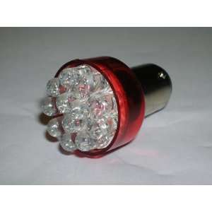Sportiva Motors One Pair 1157 Red 12 LED Light bulbs   BA15D /12V Turn