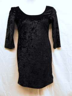 Rue 21 Black Velvet Dress