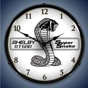 Shelby Super Snake Lighted Wall Clock Home & Kitchen