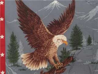 New American Bald Eagles Birds Patriotic Fabric Panel