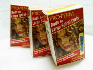 boxes Perm rods   Large Spiral Curls PRO PERM   Spiral Rod Kit #1
