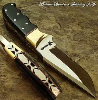Antonio Banderas 1 OF A KIND CUSTOM SKINNING KNIFE  O1 TOOL STEEL