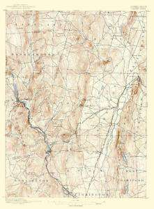 USGS TOPO MAP GRANBY SHEET CONNECTICUT (CT) 1892 MOTP