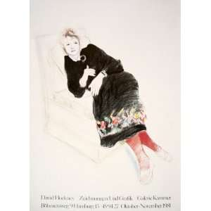 Dress With Coloured Border by David Hockney, 25x35: Home & Kitchen