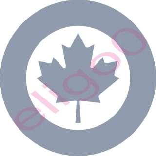 1x Canada RCAF Air force Roundel vinyl sticker decal gy