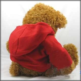 Super CUTE Red Coat Teddy Bear Plush Toy Doll 25H