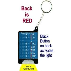 Detroit Lions 2012 NFL Schedule Flashlight Key Chain with