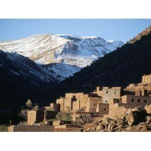 Berber Village in Ouarikt Valley, High Atlas Mountains