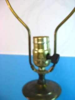 Antique Neo Classical Satin Glass Table Lamp (Tiffin)