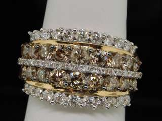 GOLD CHOCOLATE BROWN DIAMOND ENGAGEMENT ANNIVERSARY BAND RING