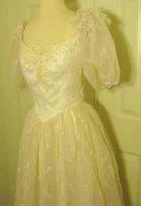 vtg 60s union made ivory lace wedding bridal gown xs search