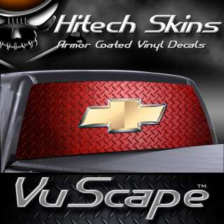 Vuscape Truck Rear Window Graphic  Chevy Red D. Plate
