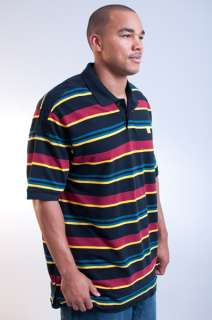 NEW MENS MARITHE FRANCOIS GIRBAUD BLACK RED YELLOW STRIPED POLO SHIRT
