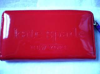 Kate Spade Big Apple Neda Wallet Clutch Gifting pink And Cherry Color