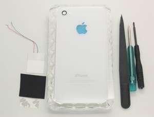 Glowing Apple Logo LED Light Full Set Mod Kit for iPhone 4S GSM White