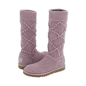 UGG Australia Womens Argyle Knit Boots Dusty Wysteria Size 8
