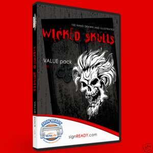 SKULLS CLIPART  VINYL CUTTER PLOTTER CLIP ART VECTOR CD