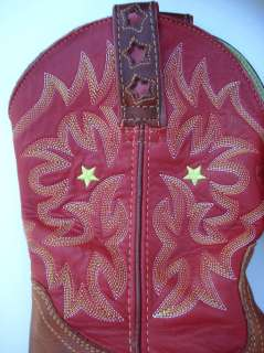 ARIAT womens cowboy boots tan red FAT BABYS ? 7.5 B Clean and cute