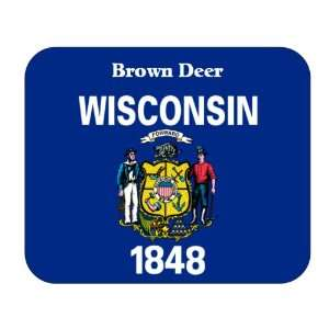 US State Flag   Brown Deer, Wisconsin (WI) Mouse Pad: Everything Else