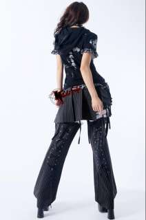 New girls Goth PUNK visual kei Rock belt trousers pants