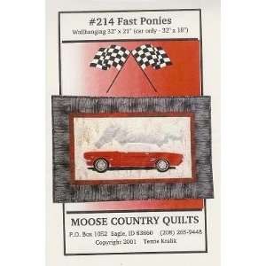 Fast Ponies Quilt Pattern By Moose Country Quilts: Arts