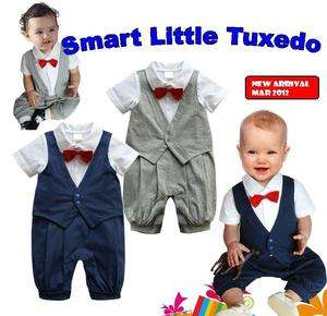 18M) Baby Boy Twins Wedding Special Occasion Christening Tuxedo
