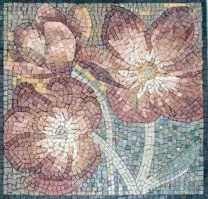 SUPER MARBLE MOSAIC FLOWERS MURAL ART TILE DECOR