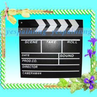 Wooden Clapperboard Clapper Board TV Film Studio Slate