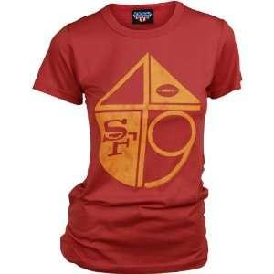 Junk Food San Francisco 49ers Womens Short Sleeve Crew T Shirt XX