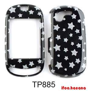 Cell Phone Case Cover For Samsung Gravity T T669 Glitter Stars on