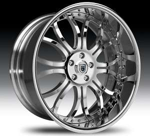 22 Asanti AF152 Chrome Wheels Rims 3 Piece