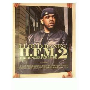 Lloyd Banks Poster The Hunger From Re