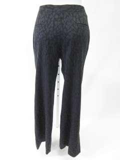TULEH Gray Leopard Print Wool Straight Wide Pants