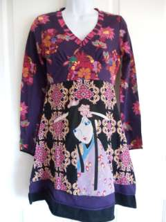 Bella Carra Designer Asian Inspired Geisha Women Boutique Dress S M L