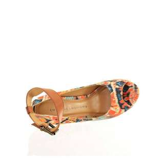 Chinese Laundry Womens Platform Pump Shoes Dj Mix Orange Tribal Fabric