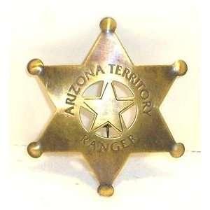 Brass Arizona Ranger Obsolete Old West Police Badge Everything Else