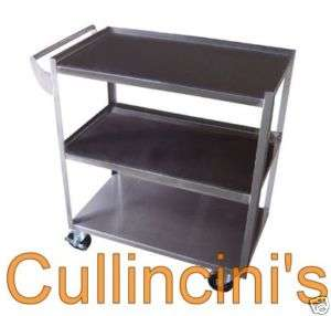 Stainless Steel Bus Cart 3 tier with casters assembled