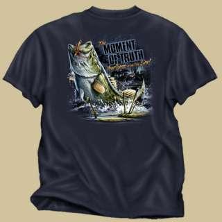 Buckwear fishing shirt NEW The moment of truth   Bass